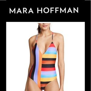 "NWT Mara Hoffman One Piece ""Emma"" Swimsuit L"